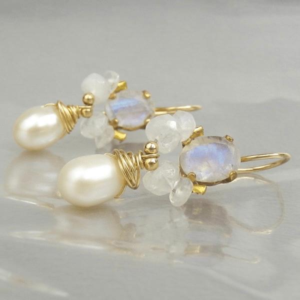 Handcrafted fashion jewelry, gemaakt door edelsmid uit Israël met edelstenen en 14K goldfilled goud