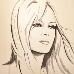 Painting Brigitte Bardot by Thea van Dijk