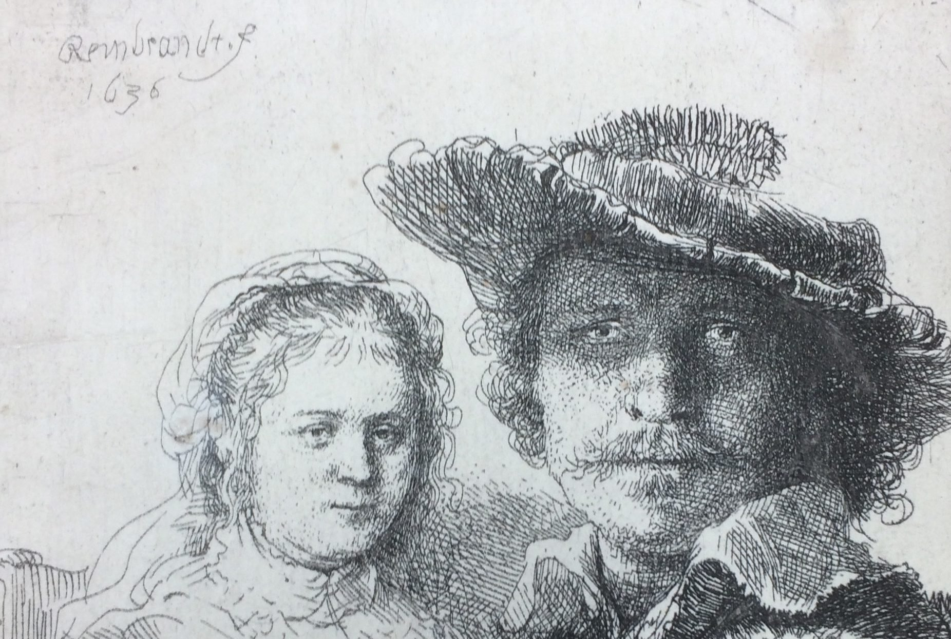 Rembrandt etch from Douwes Fine Art at the FINE art & antiques in Baarn