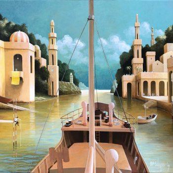 galerie-honingen-schip-schilderije